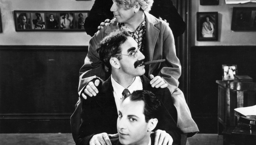The Marx Brothers became famous comedic actors, known for their wit and complex wordplay.