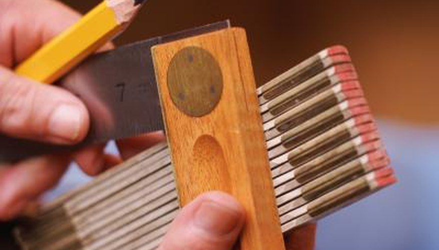 A try square can be used to check right angles and mark lines for cutting.