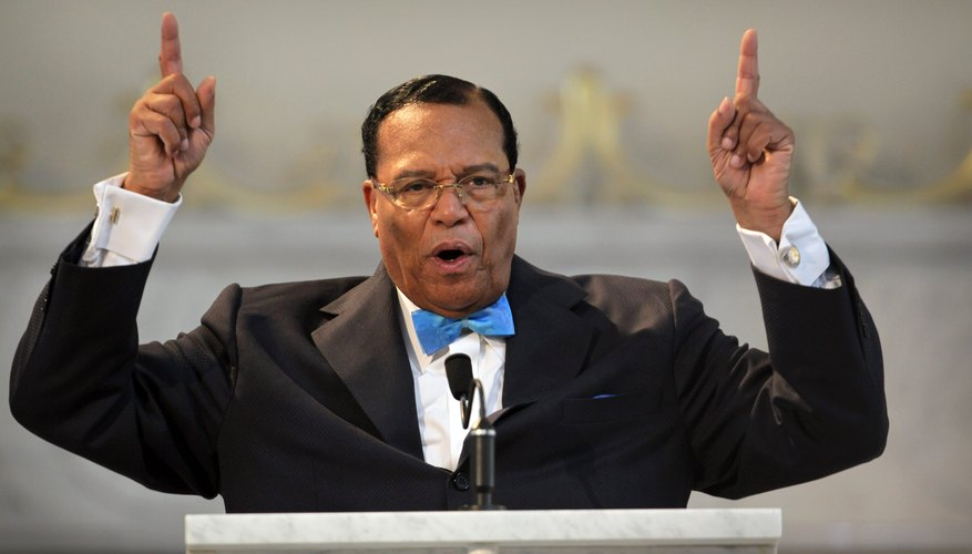 Louis Farrakhan has achieved international prominence as leader of the Nation of Islam.