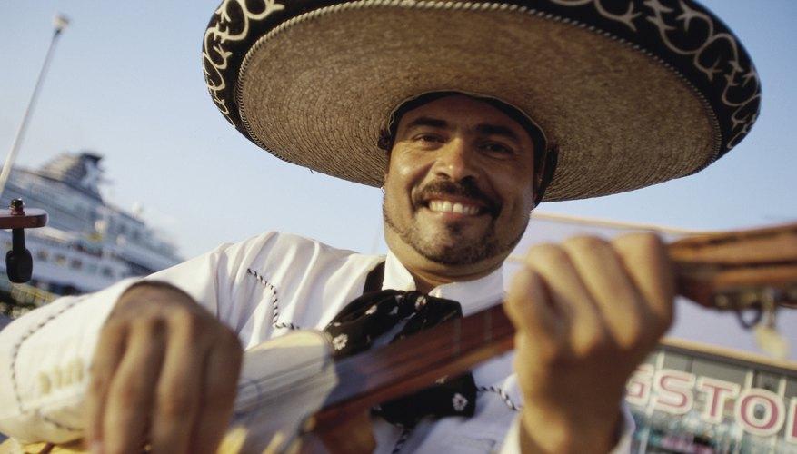 Mariachi musician playing guitar