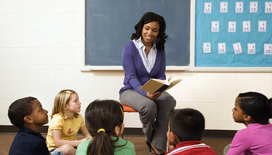 teacher reading to class