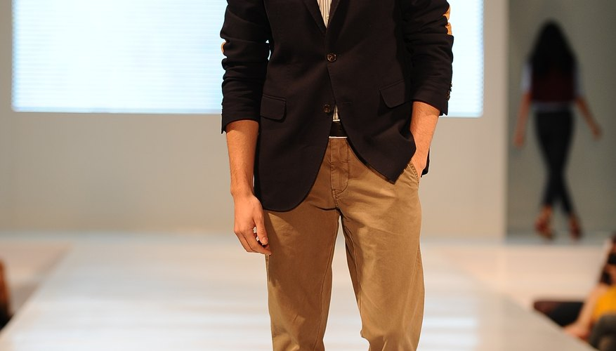 At Tommy Hilfiger's spring 2013 show, models sported blazers in casual fashion.