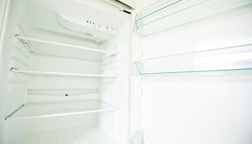 Inside of empty refrigerator
