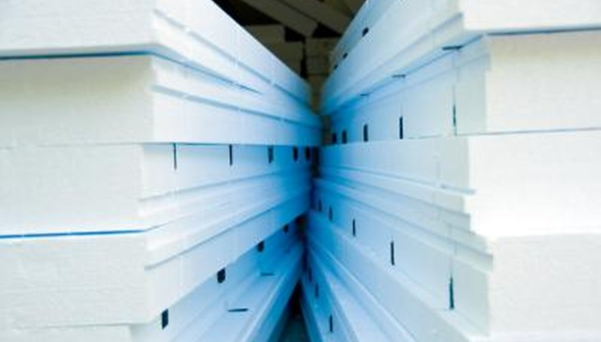 Foam insulation boards come in different colours, thicknesses and insulation values.