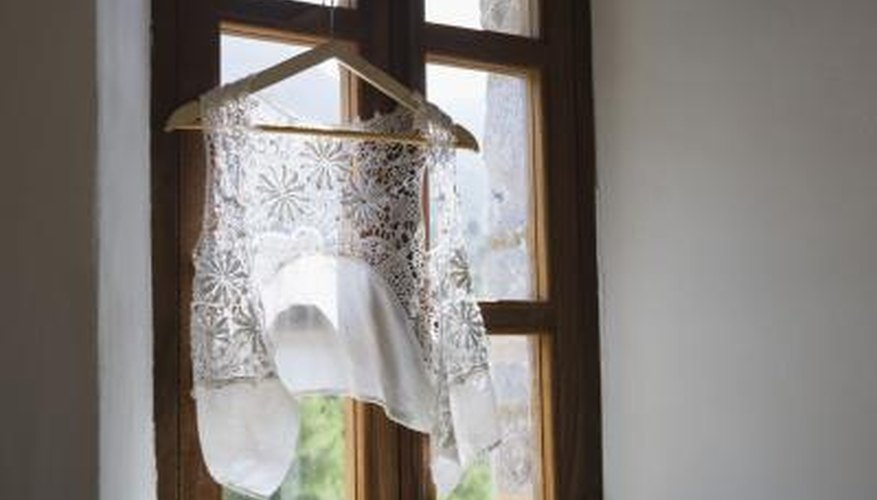 Repair lace items with a simple mending process.