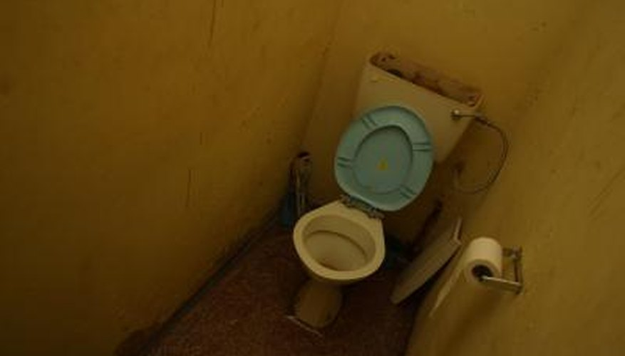 Even in cramped rooms, toilets have minimal space requirements.