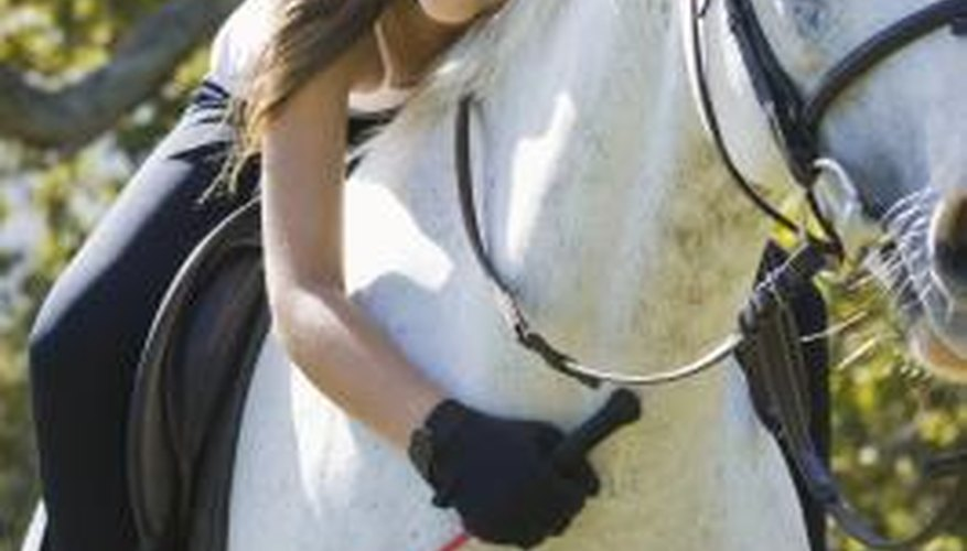 Riding crops are used to reinforce a rider's leg commands.