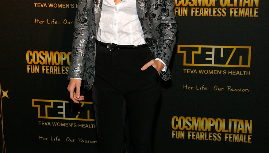 AnnaLynne McCord wears skinny jeans to create curves.