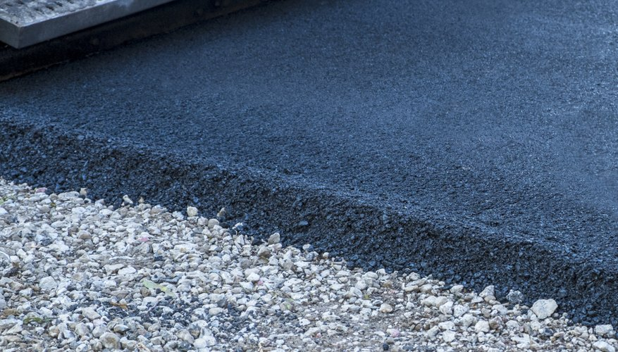 Asphalt is easier to drill than concrete.
