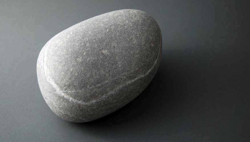 Grey stone paperweight.