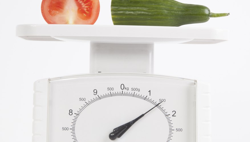 Work out the unit of measure on your scales.