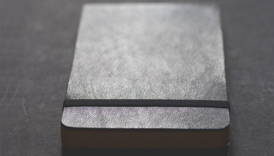 A moleskin notebook.