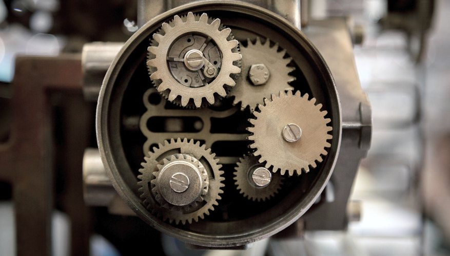 A compicated device requires multiple gears for the machine to function.