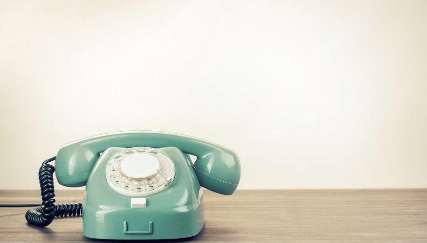 A 1960's era rotary telephone.