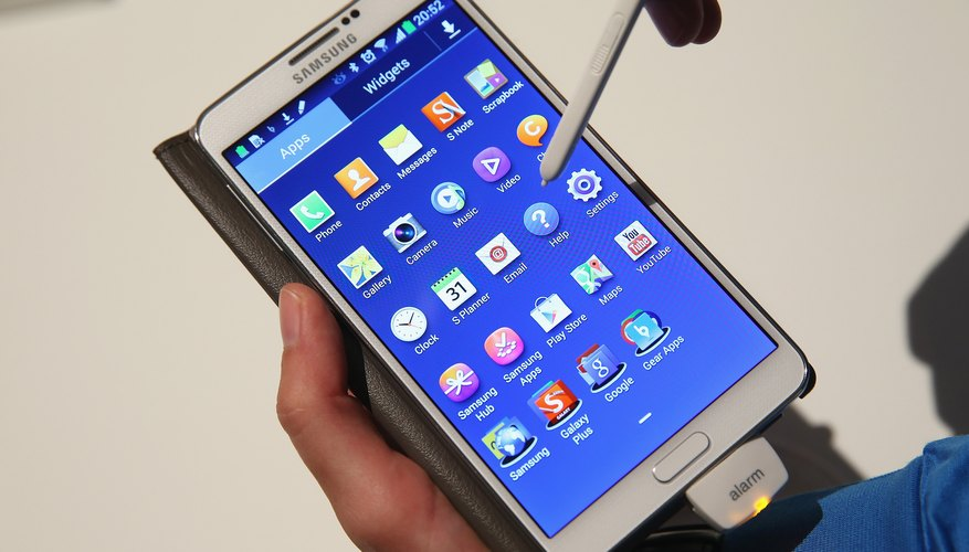 Back up important information on the Galaxy Note before doing a hard reset.
