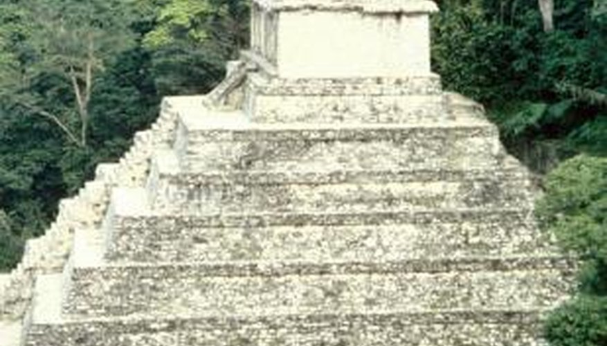 Ancient Aztec architecture includes both elaborate temples and simple houses.