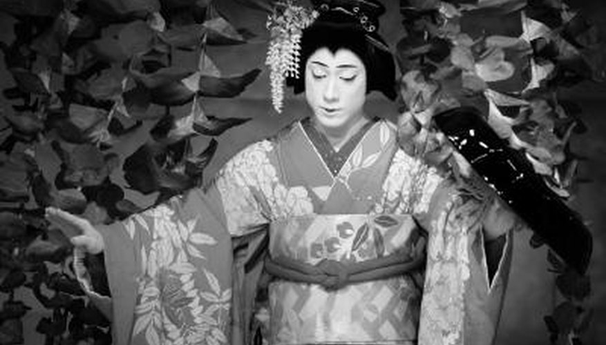 Kabuki performers paint their faces instead of wearing masks.