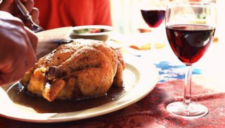 Chicken and some wine is kosher.