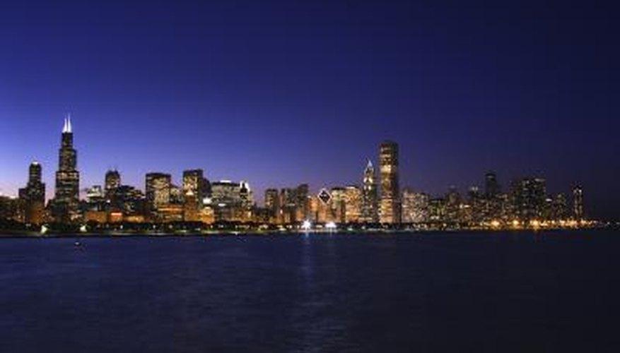 Night shot of skyline.