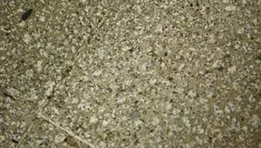 Design a terrazzo concrete mix with more than one aggregate to create a mottled appearance.