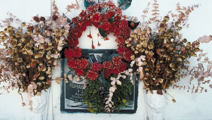 A graveside wreath.