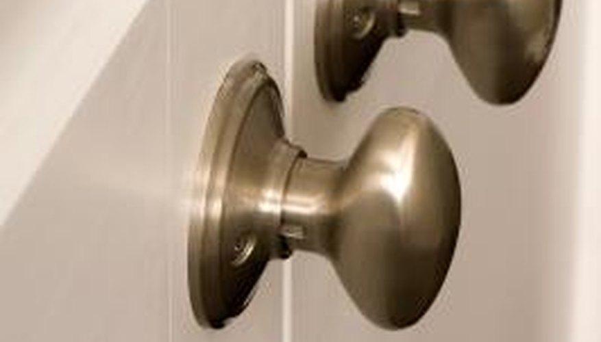 The doorknob handle allows you to open a door.