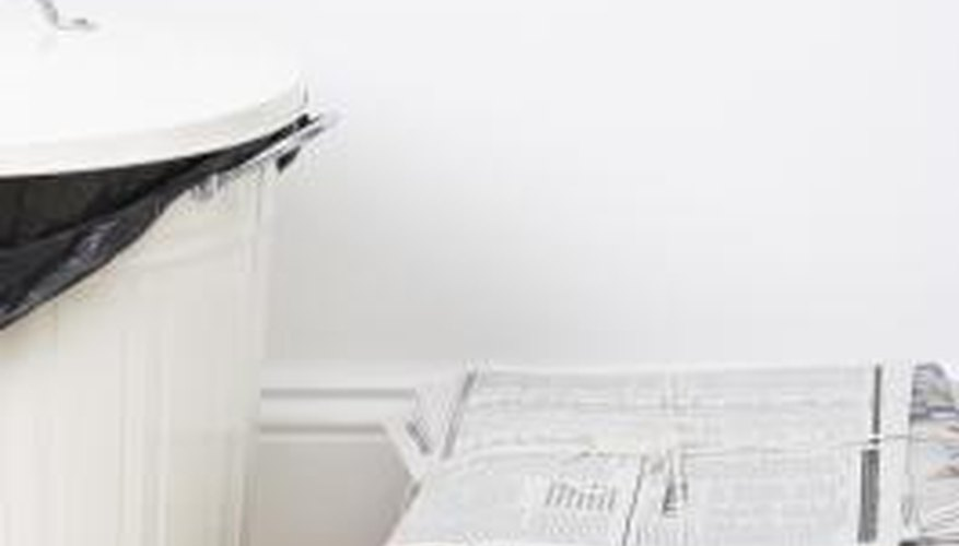 Old newspapers are a handy way to pack items, mulch your garden or provide bedding for pets.
