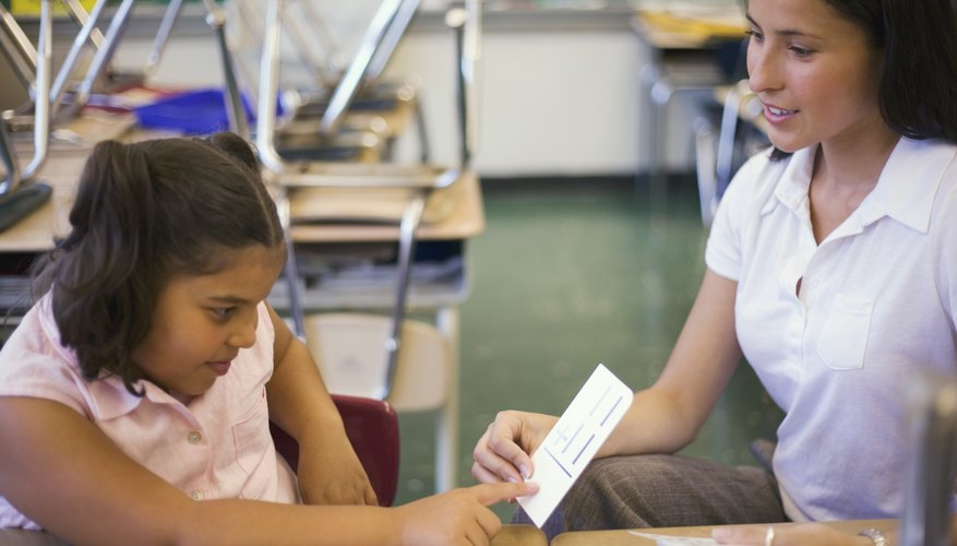 Flashcards, diagrams, maps, charts, or hands-on demonstrations--as both a complement to and a substitute for explanatory speech