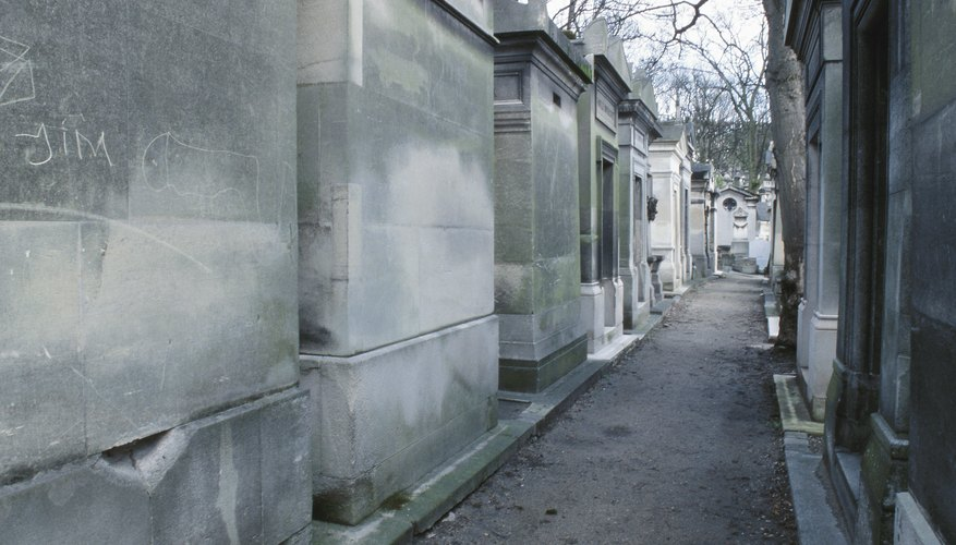 Mausoleums are above-ground, free-standing tomb structures.