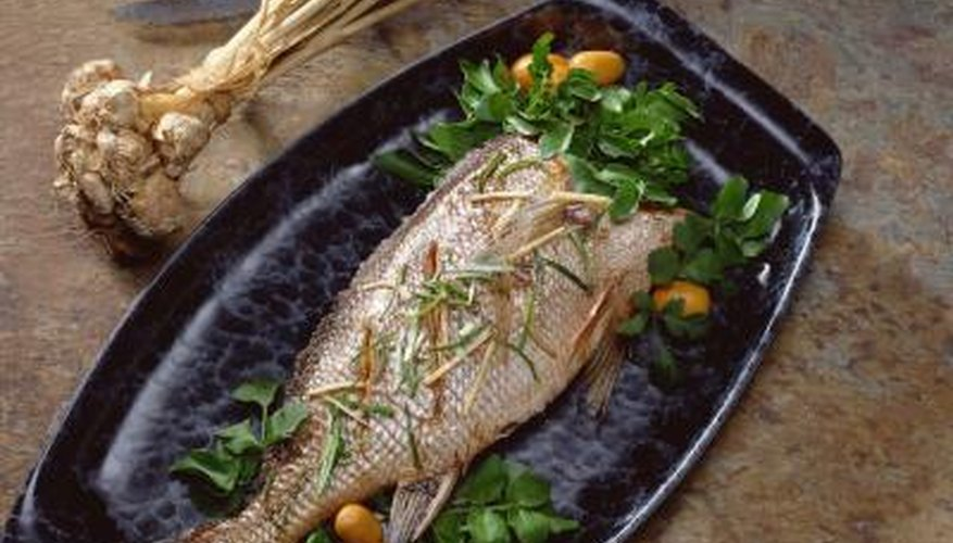 When you clean your sea bream you can leave the tail on for presentation.