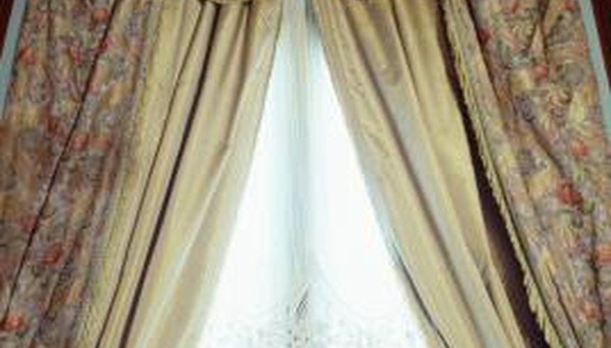 Even curved drapes start with straight cuts.