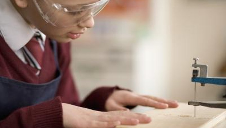 Scroll saws are used to make intricate cuts.