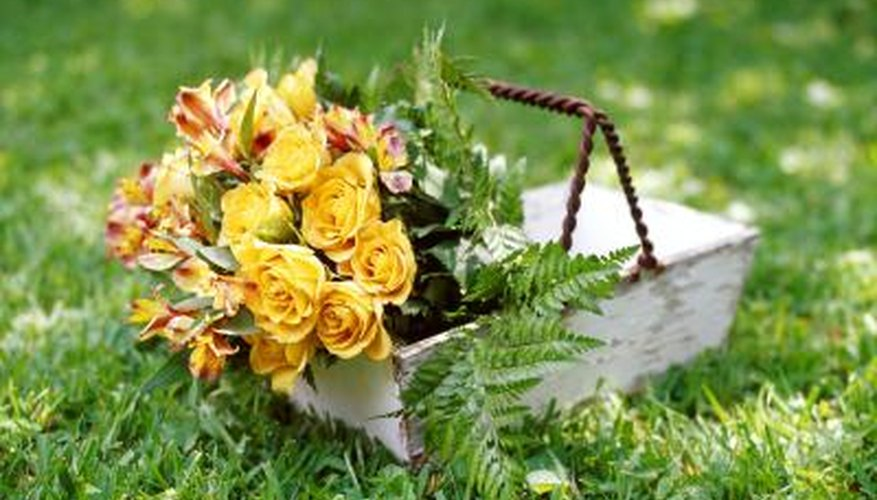 Add a basket of flowers to a