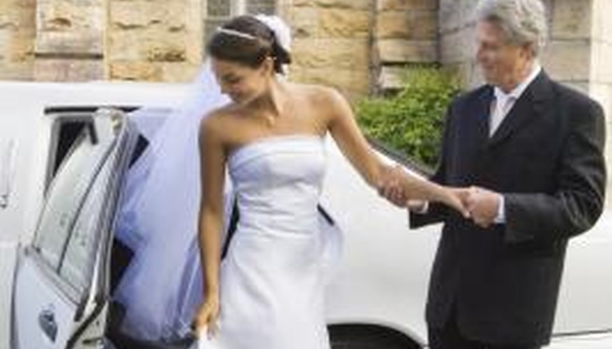 Car doors are most often the source of grease stains on satin wedding dresses.