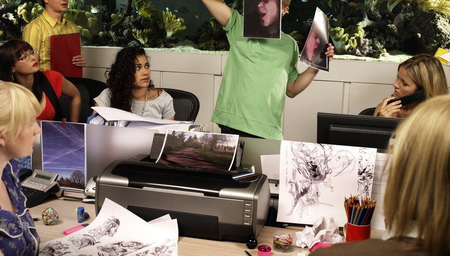 A wireless print server simplifies the printer-sharing process.