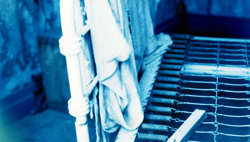 Metal springs are found in some bedframes.