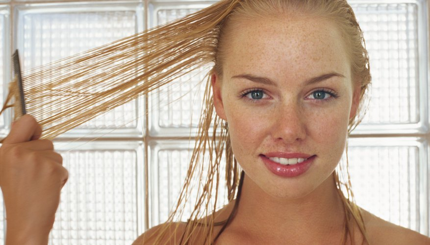 Wet hair can quickly transform into sleek locks.