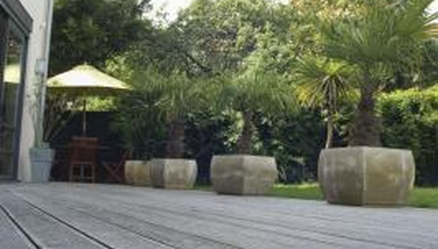 Screening plants add privacy to decks and patios.