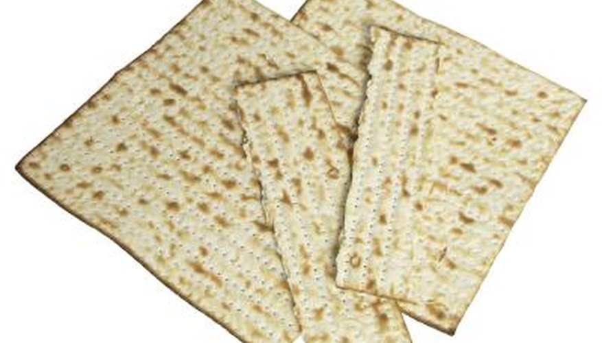 Unleavened bread is made with flour, water and no yeast.
