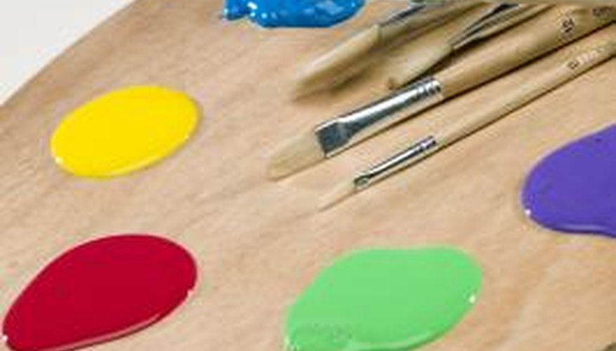 Pointillism involves applying small dots of colour in order to create artistic images.
