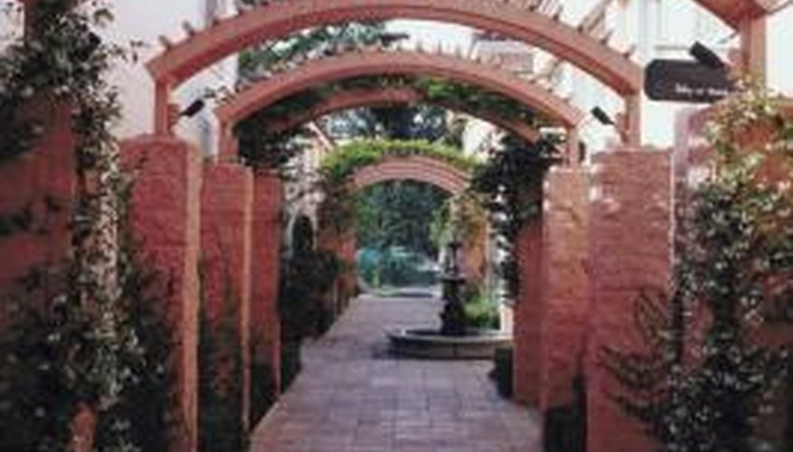 Brick is an option for building structures in your garden.