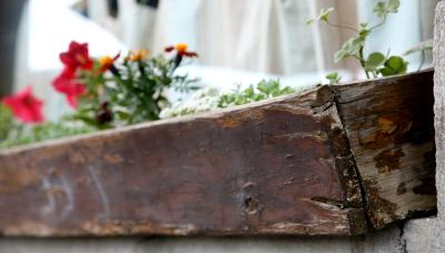 Waterproofing a wooden planter extends its life.