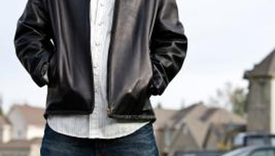 Use the shower to get wrinkles out of a faux leather jacket.