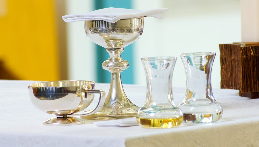 Christian churches have differing beliefs about communion and other sacraments.