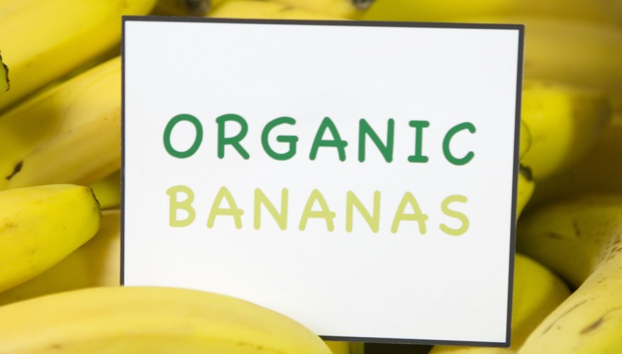 Use organic bananas in beauty preparations to avoid pesticides on your skin.