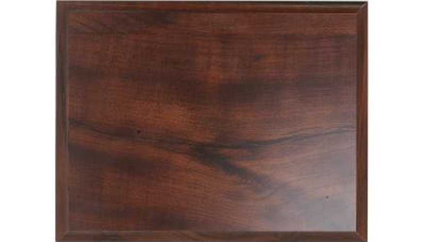 Burnish wood for a smooth hand-rubbed finish.