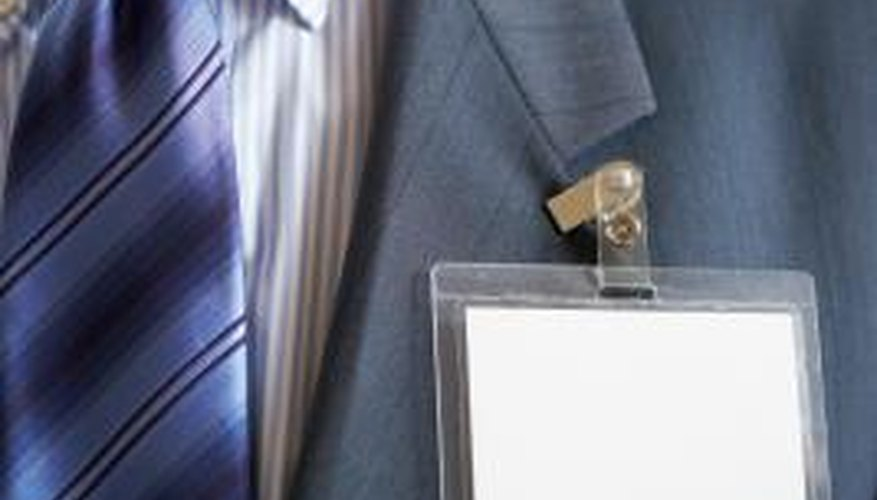 Replacing this blank name tag with a professionally printed badge lends credibility to your event.