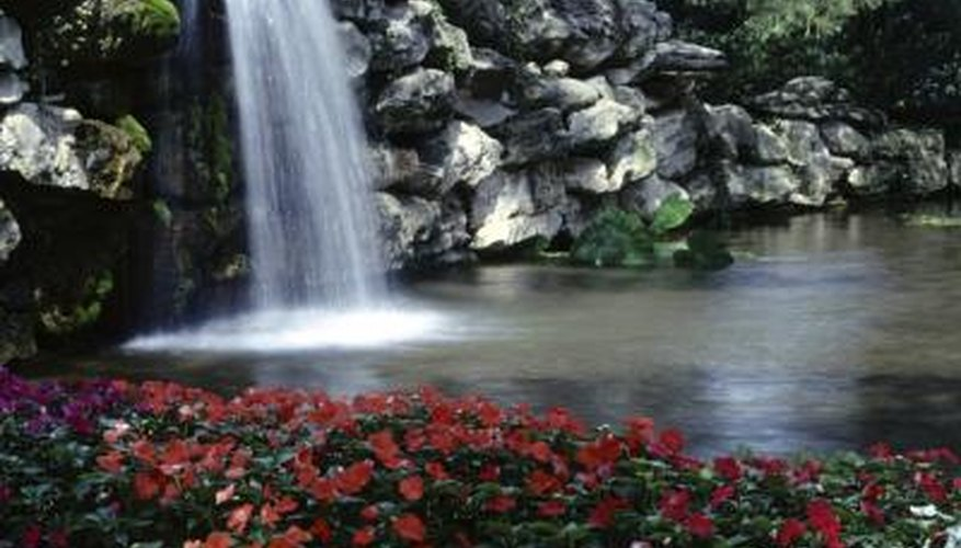 Ponds and waterfalls provide a tranquil setting.
