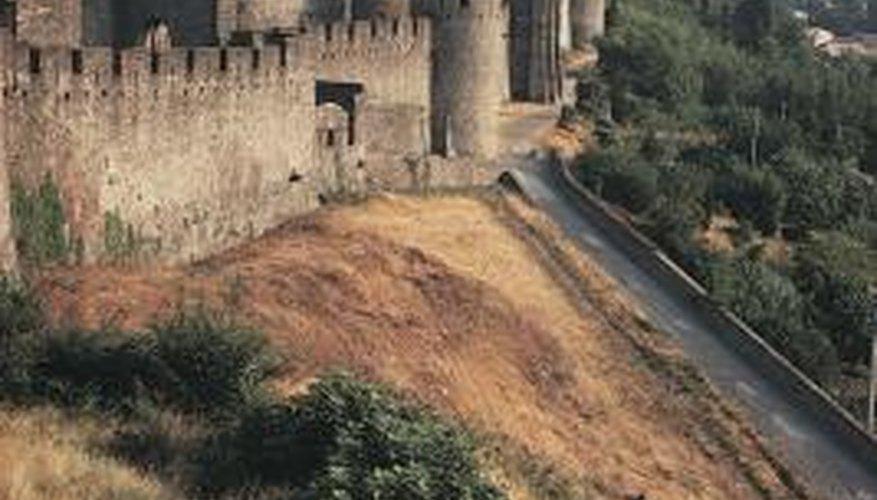 No castle is complete without its turrets -- even a paper castle.