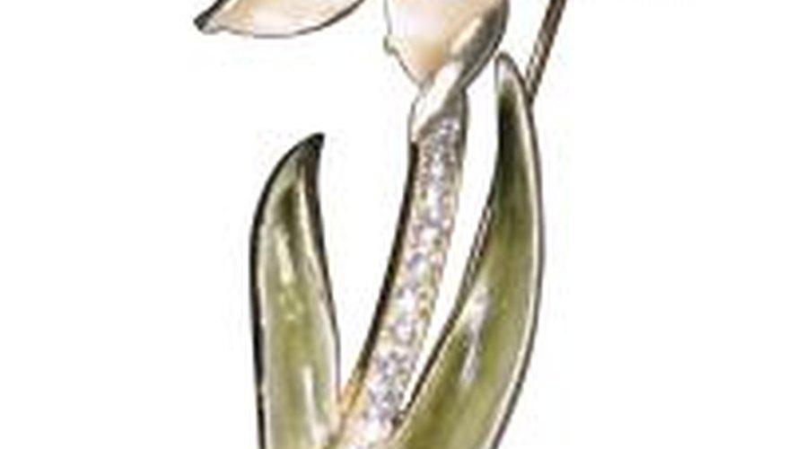 Electroforming creates a metal casing around keepsake flowers.